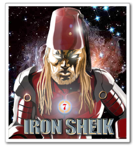 IRON SHEIK POSTER WITH NAME